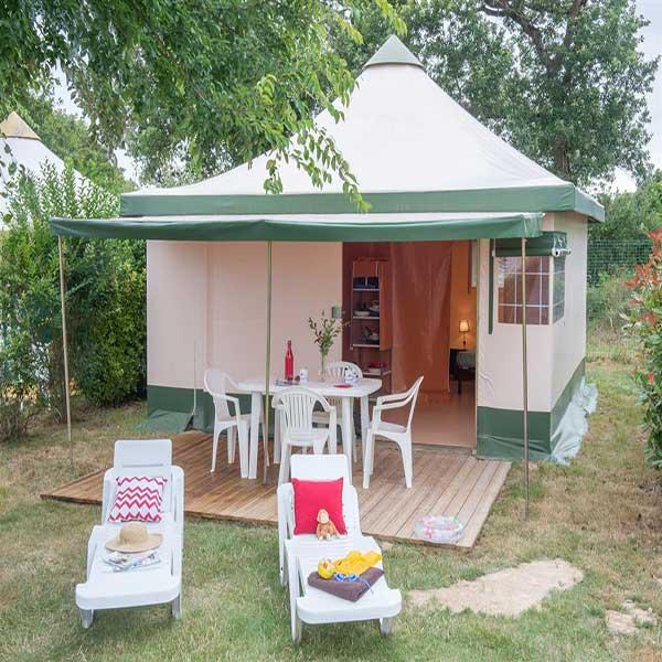 En telt reparation sikrer teltet i fremtiden